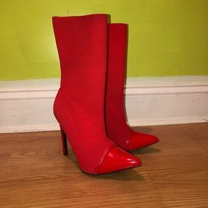 EGO Red Sock Boots, Vinyl Points